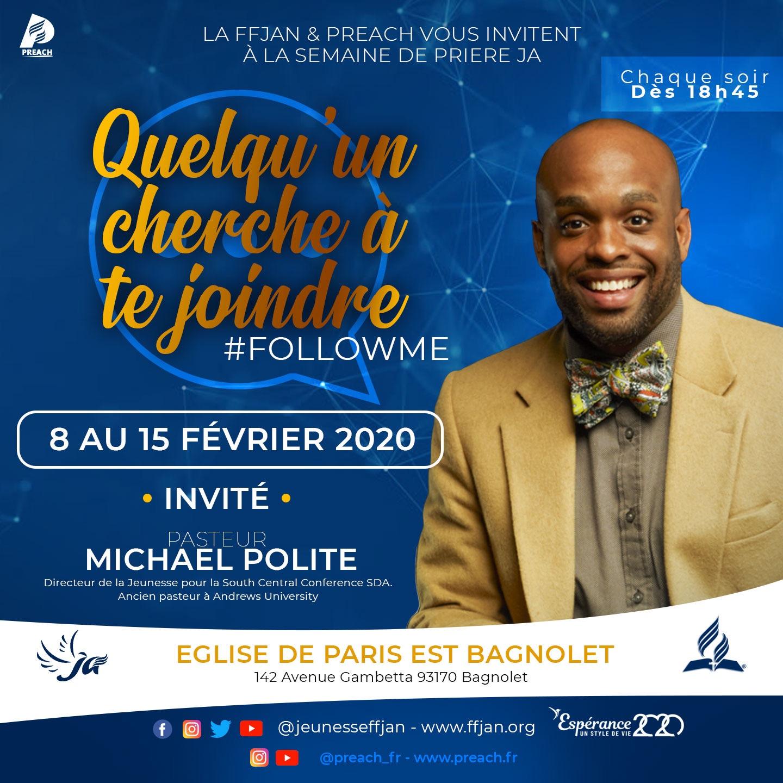 Semaine de prière JA avec Michael Polite – Février 2020
